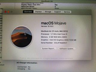 Apple Macbook Air 11 pulgadas 2012