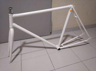 Cuadro bicicleta pista (single speed, piñon fijo)