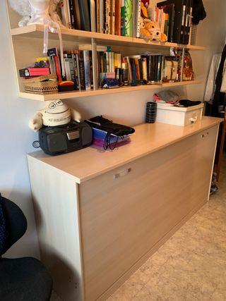 Mueble cama, estanterías y armario