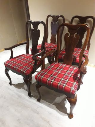 Refurbished Chair Scottish Tartan
