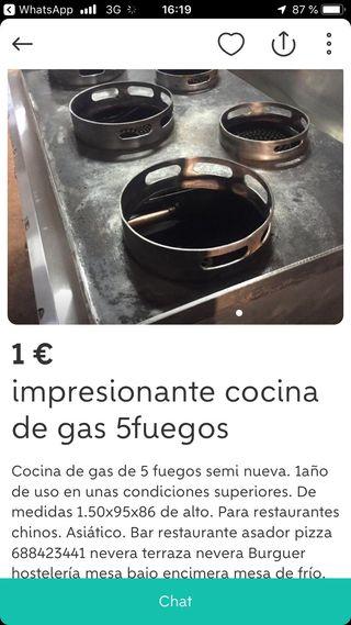 Cocina wok 5 fuegos