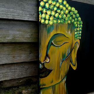 Meditation goddess acrylic painting