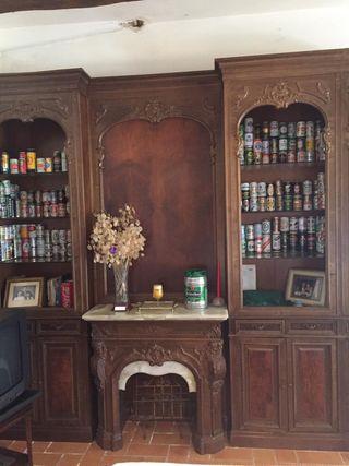 Librería vitrina vintage chimenea MARIANO GARCIA