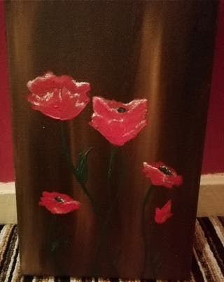 Remembrance Poppies Acrylic Painting