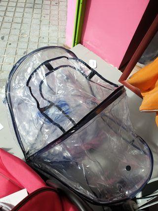 Plástico burbujas de lluvia para bebés