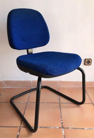 Silla escritorio oficina azul