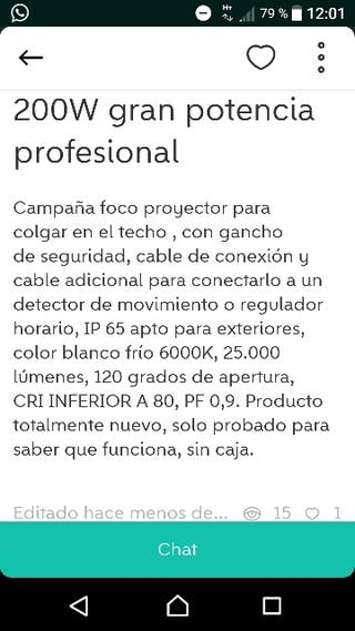 campana foco led proyector