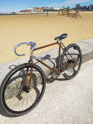 Fixie Vintage color madera
