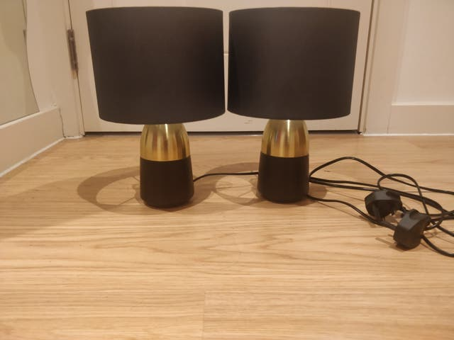Pair Of Touch Table Lamps Second Hand For 10 In Croydon In Wallapop