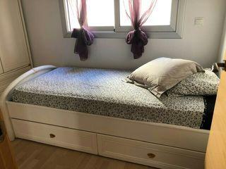 Cama nido (2 camas en 1 con colchones incluídos)