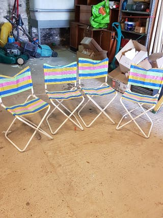 lote de 4 sillas plegables