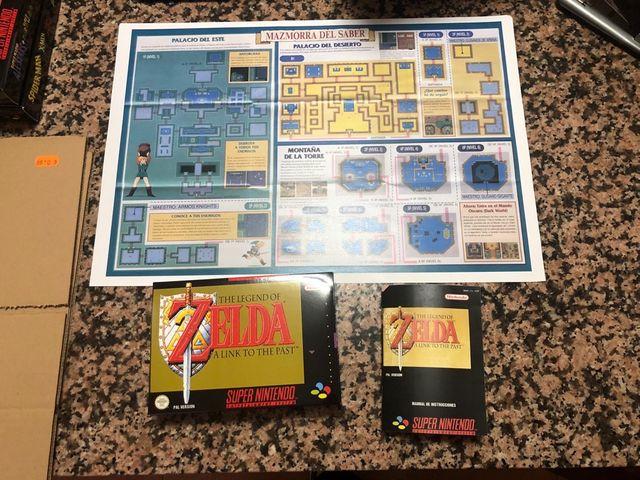 Zelda snes caja mapa manual de segunda mano por 29 € en Alcobendas