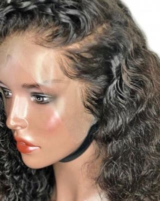 Curly front lace human hair
