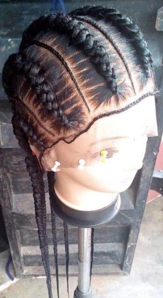 Full lace braided wig human hair