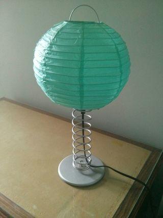 Lámpara globo azul