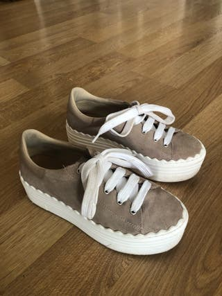 Zapatos Bambas sneakers plataforma n37