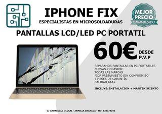 reparar pantalla LCD Led pc Mac Armilla granada