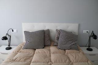Cabecero cama blanco
