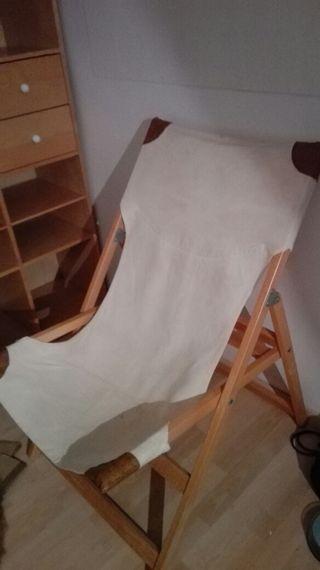 silla lona plegable