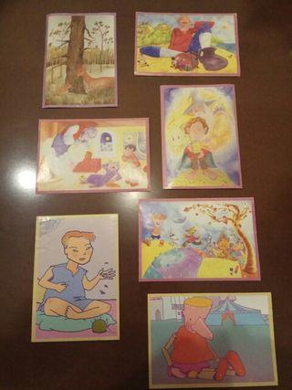 cromos de cuentos infantiles