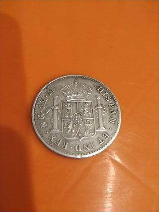moneda de plata ocho reales