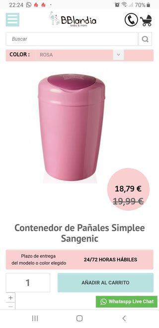 CONTENEDOR DE PAÑALES ROSA