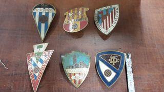 Chapas antiguas para moto Vespa de fútbol
