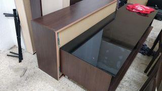 mueble comedor y armario pared roble americano