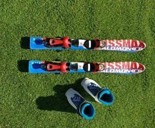 Esquis Junior + Botas esquiar niño/niña