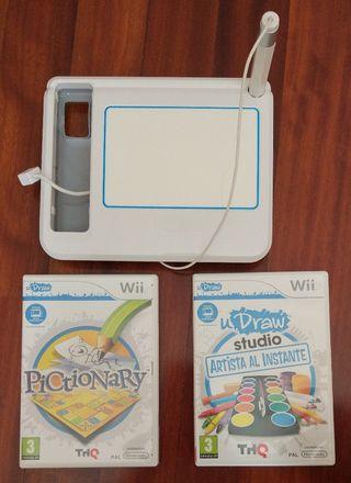 uDraw Game Tablet para Wii y 2 juegos