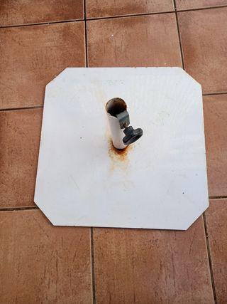 base parasol plana