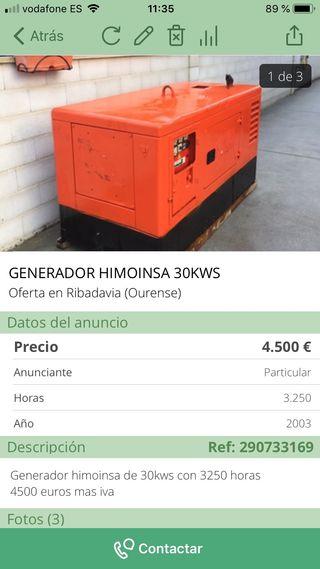 Generador 30 kws