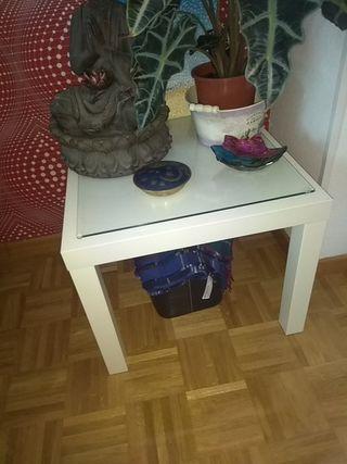 mesa baja ikea con cristal