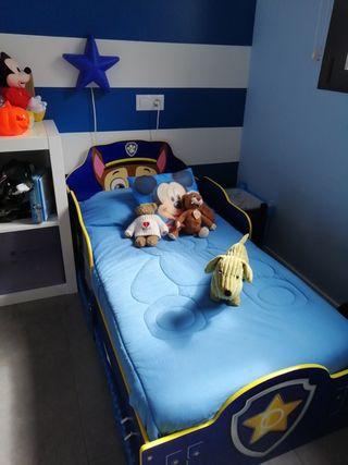 cama de patrulla canina