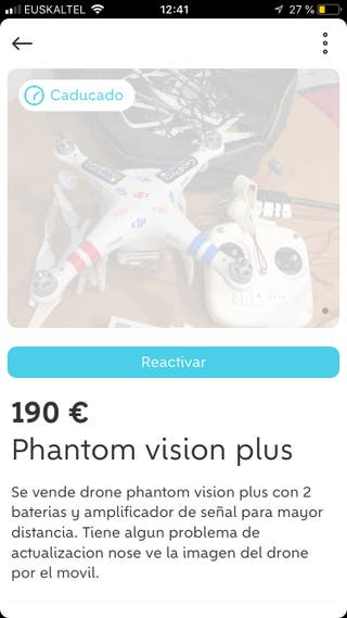 Cambio drone phantom vision