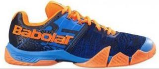 Zapatillas Babolat movea azul naranja negro