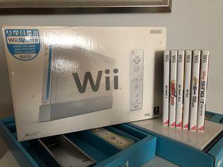 Wii Nintendo + 6 juegos