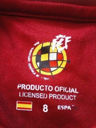 equipación de la selección española.