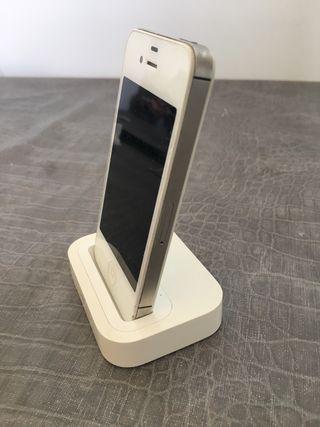 Soporte cargador oficial Apple con salida sonido