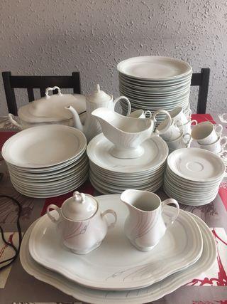 Vajilla porcelana 84 piezas