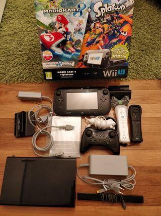Wii U 32Gb casi sin uso, con 3 mandos y 11 juegos