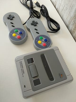 Consola retro (diseño Super nintendo)