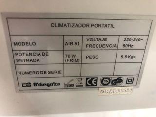 Climatizador aire acondicionado