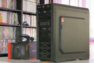 Ordenador gamer AMD 8 núcleos 16 RAM refrig liq
