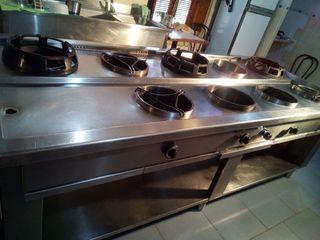 cocina wok .