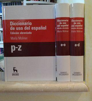 Diccionario de uso del español. María Moliner. Edi