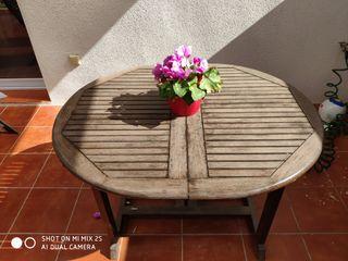 mesa extensible jardín