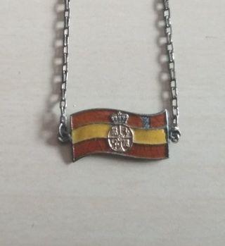 Antigua pulsera plata esmaltada época Alfonso XIII