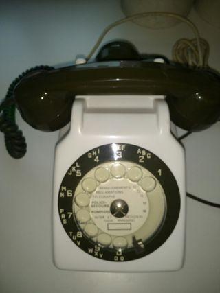 Teléfono antiguo francés doble auricular