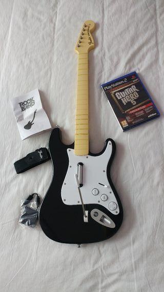 Guitarra y Juego Guitar Hero 5 PS2